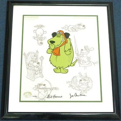 "Hanna Barbera Signed Muttley Cel ""PERSONA"" Rare Wacky Races Animation cell"