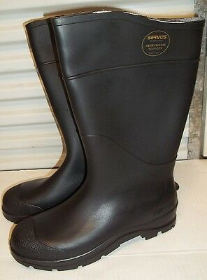 "Radnor 64055866 Black 16"" PVC Economy Boots Lugged Outsole Steel Toe Size 12"