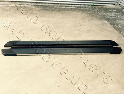 (#303) Mitsubishi Pajero 07-14 Black Aluminium Side Steps Running Boards
