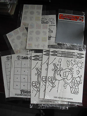 Lot of 10 Vintage 1990s Little Caesars Childrens Activity Games Others NIP LOOK