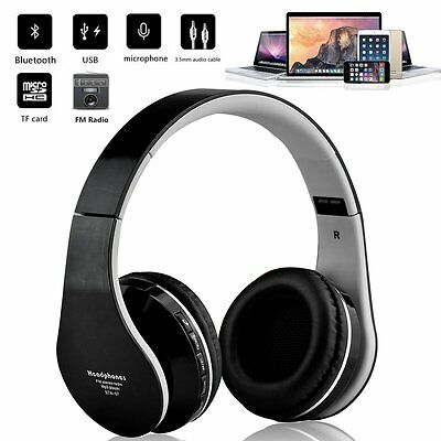 Portable Wireless Bluetooth Noise Cancelling Headset Headphones