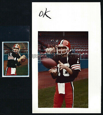 Paul McDonald Browns 1983 Topps Sticker Original Extra Photo 5x8 Vault Archives