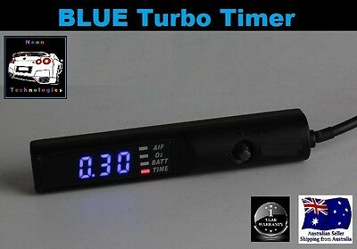 BLUE Turbo Timer *Auto Pen Style 4WD Diesel Hilux Patrol Navara o2 Volts Gauge*