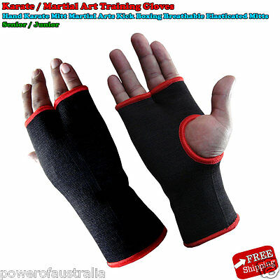 Hand Karate Gloves/Mitts Martial Arts Kick Boxing Breathable Elasticated Mitts
