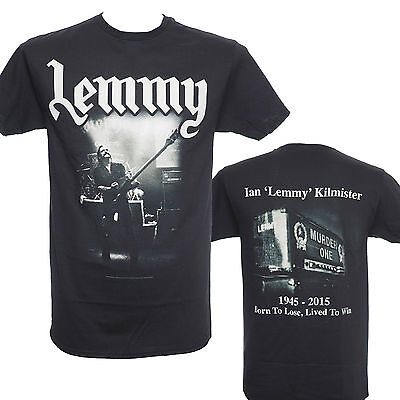 LEMMY KILMISTER - LIVED TO WIN - Official T-Shirt - New S M L XL - Motorhead