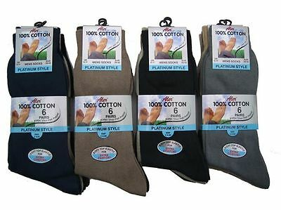 3 Pairs Men's 100% Cotton Luxury Socks for work or leisure Black or Colours