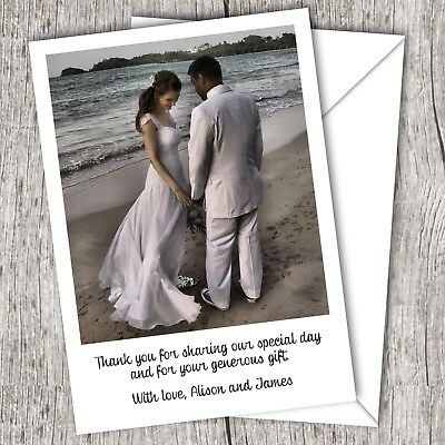 Photo WEDDING Thank You Cards (Postcards) • Personalised • Fast Post (D79)