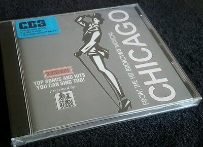 Karaoke CDG disc Stage-Stars Chicago Bdwy Mus STS6005, see descript 14+14 tracks