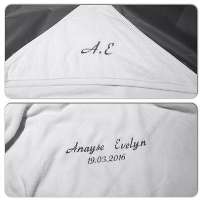 Personalised Embroidered Baby Towel, Robe Initials Name,Newborn,Christening Gift