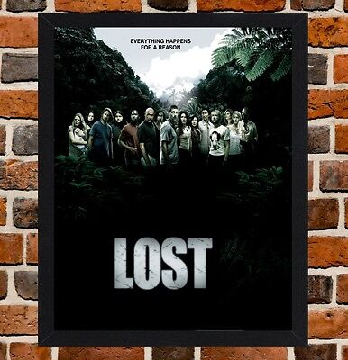 Framed Lost TV Show Poster A4 / A3 Size In Black / White Frame (Ref-4)