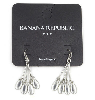 b5b395bbf New Pair of Silver Tone Dangle Earrings with Four Drops by Banana Republic  #BRE4