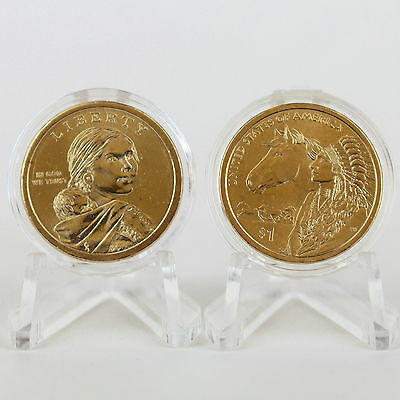 2012 Native American Dollars Encapsulated Uncirculated 2-coin Set P&D