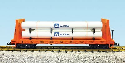 Usa Trains G Scale Illinois Central Pipe Load Flat Car | Bn | R17606