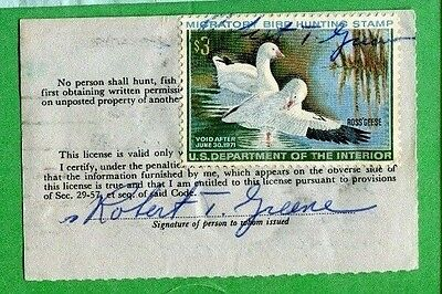 VIRGINIA 1970 Resident Hunting License RW37 Federal Duck Stamp - 417