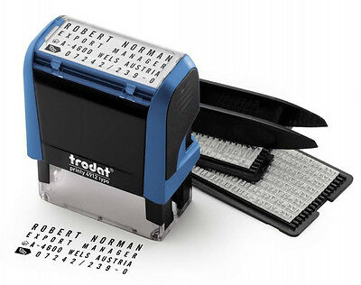 Trodat Printy 4912 typo Do It Yourself Stamp Kit (Up to 4 Lines)