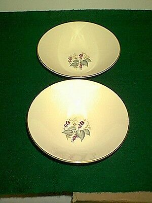 1940's Vintage Knowles X-4041 Berries & Vine Set Of 2 Vegetable Bowls Grape Vine