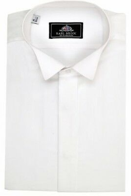 Rael Brook Mens Wing Collar Evening Dress Shirt in White