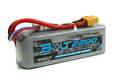 RC Turnigy Bolt 2200mAh 3S 11.4V 65~130C High Voltage Lipoly Pack (LiHV)