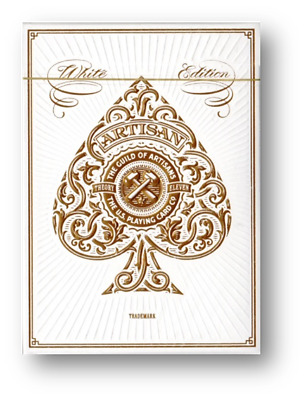 Artisan White Edition Playing Cards by theory11 Poker Spielkarten