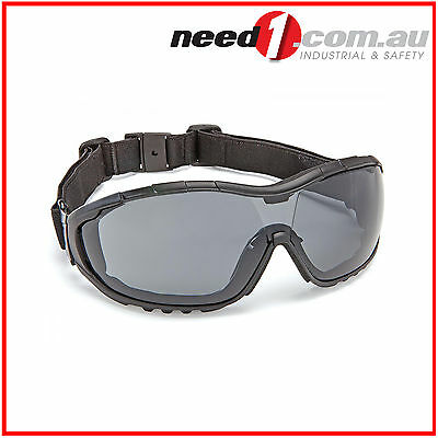 Force360 Oil & Gas Smoke Lens Safety Spectacle Glasses (with strap)