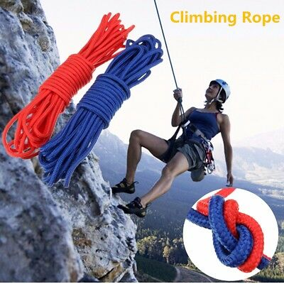 10m Climbing Rappelling Rope Mountaineering Escape Practical Rescue Rope 6mm