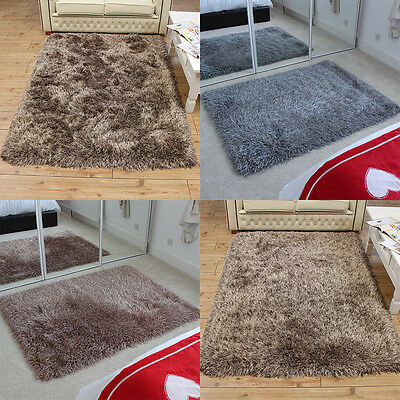 Shaggy Rugs, Modern THICK, LONG, QUALITY Silky GLOSSY Small M Large sizes VSOFT