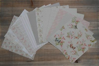"""12, 36, 72 Sheets 6"""" x 6"""" Dovecraft FLORAL MUSE 150gsm Patterned Craft Paper"""