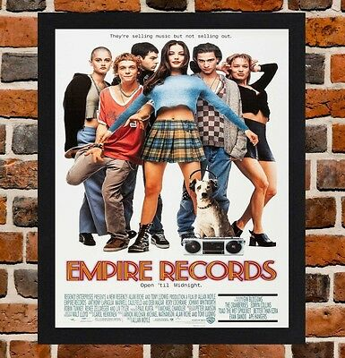 Framed Empire Records Movie Poster A4 / A3 Size Mounted In Black / White Frame