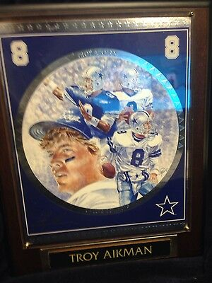 Troy Aikman Numbered Edition Collectors Plaque #2780