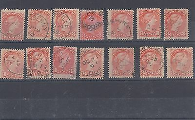 DATED copies Small Queen LOT x 14 $1.00 each Canada used