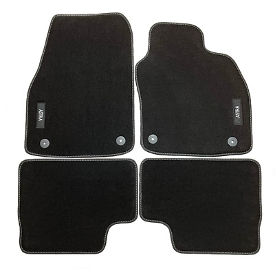 Vauxhall Astra H Velour Black Tailored Front/Rear Floor Car Mats GENUINE OE