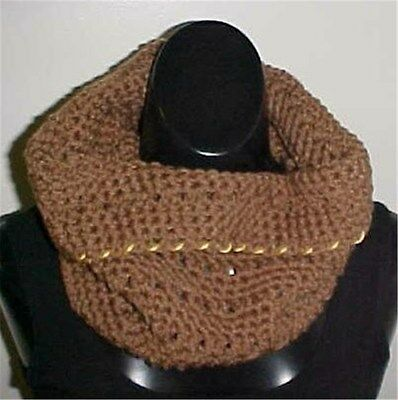 Hand Crochet Brown Neck Warmer One Size New