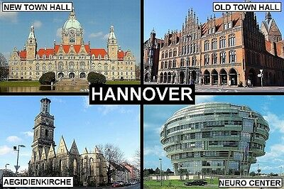 SOUVENIR FRIDGE MAGNET of HANNOVER HANOVER GERMANY