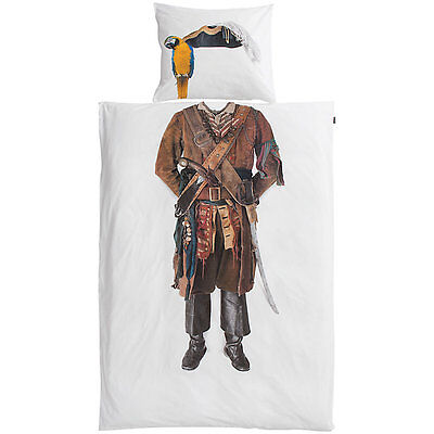 Snurk Pirate Twin Duvet Cover and Pillowcase