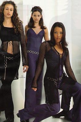 Black Fishnet MESH TUNIC Overlay TOP ONLY Long Sleeve Dance Costume Child Large