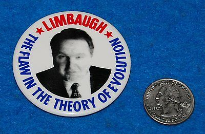 Limbaugh The Flaw In The Theory Of Evolution Pinback Button