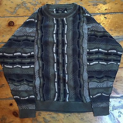 """Vintage Protege Collection Green """"coogi Style"""" Sweater Size L"""