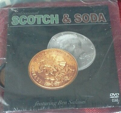 Scotch And Soda (With Mexican Coin) With Dvd- Close Up Coin Magic