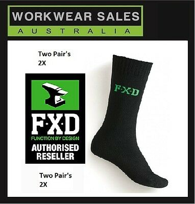 FXD Bamboo Socks SK5, SK-5Mens Stay Cool Stay Dry 2 pairs x2 = 4 Pairs