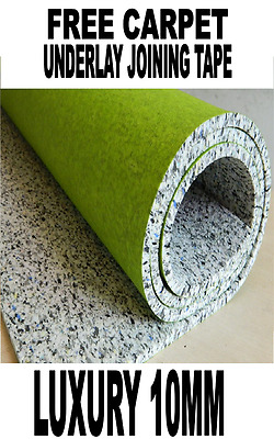 Luxury PU Foam Carpet Underlay 10mm Cheap + Free Carpet Underlay Joining Tape!