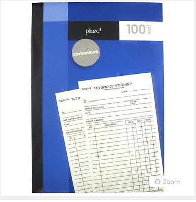 Buy 2 For $19.95 GENUINEInvoice & Statement Books Carbonless Free Fast Shipping!