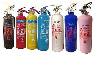 Colorful 1 Kg Powder Fire Extinguishers Home Garage Work Kitchen-Fully Ce Marked