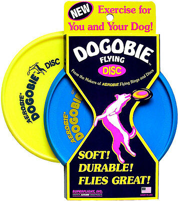 Aerobie Dogobie Dog Toy Yellow Fetch Frisbee Outdoor Fun