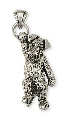 Sterling Silver Airedale Terrier Pendant Charm Jewelry AR17-P