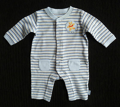 Baby clothes BOY 0-3m Disney George blue/white stripe Pooh Bear babygrow