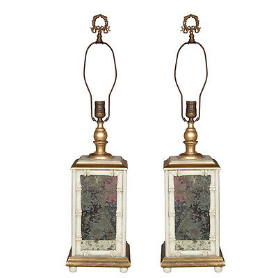 Pair of Stamped Jansen Lamps  102-6639