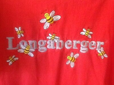 Longaberger Homestead Embroidered Red Bee Shirt - Size L