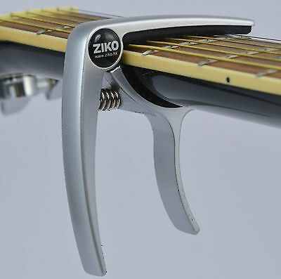 Capo for Acoustic & Electric Guitar and Ukulele -Quick Trigger Release- Silver
