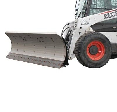 "96"" HD Series Snow Plow for Skid Steer Loaders- With free tire studs"