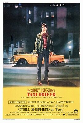 "TAXI DRIVER Movie Poster [Licensed-New-USA] 27x40"" Theater Size (1976) [De Niro]"